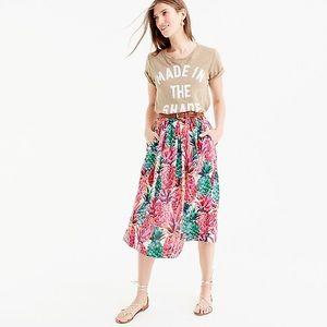 J. Crew A-line Skirt in Ratti Pineapple Print